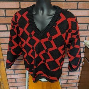 Vintage Mcgregor V neck sweater. Large 80's/90's